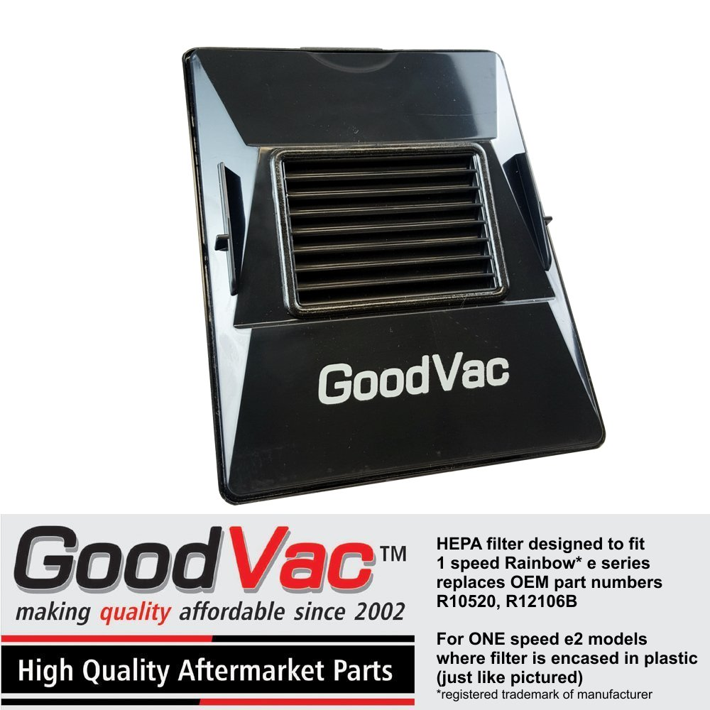 GoodVac HEPA Filter for Rainbow E Series Vacuums; replaces OEM Part No. R10520, R12106B - Check if Filter Matches Filter2-new