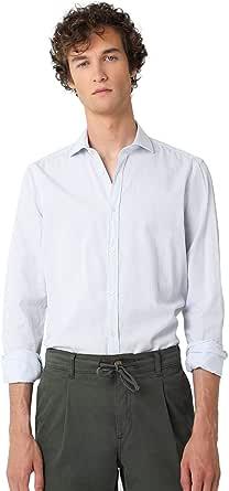 Scalpers Camisa Vestir Slim FIT - Skyblue Stripes / 42 ...