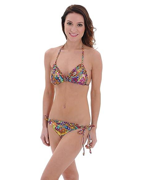 b7d707ae80 Amazon.com: Bikini Lab Juniors Paisley Bikini Bathing Suit Halter Top  Bottoms 2 Piece Set Sizes: Medium: Clothing