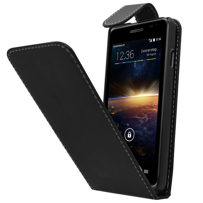 SAMRICK Especialmente Diseñado Maletín Abatible De Cuero Para Vodafone Smart 4 Turbo negro: Amazon.es: Electrónica