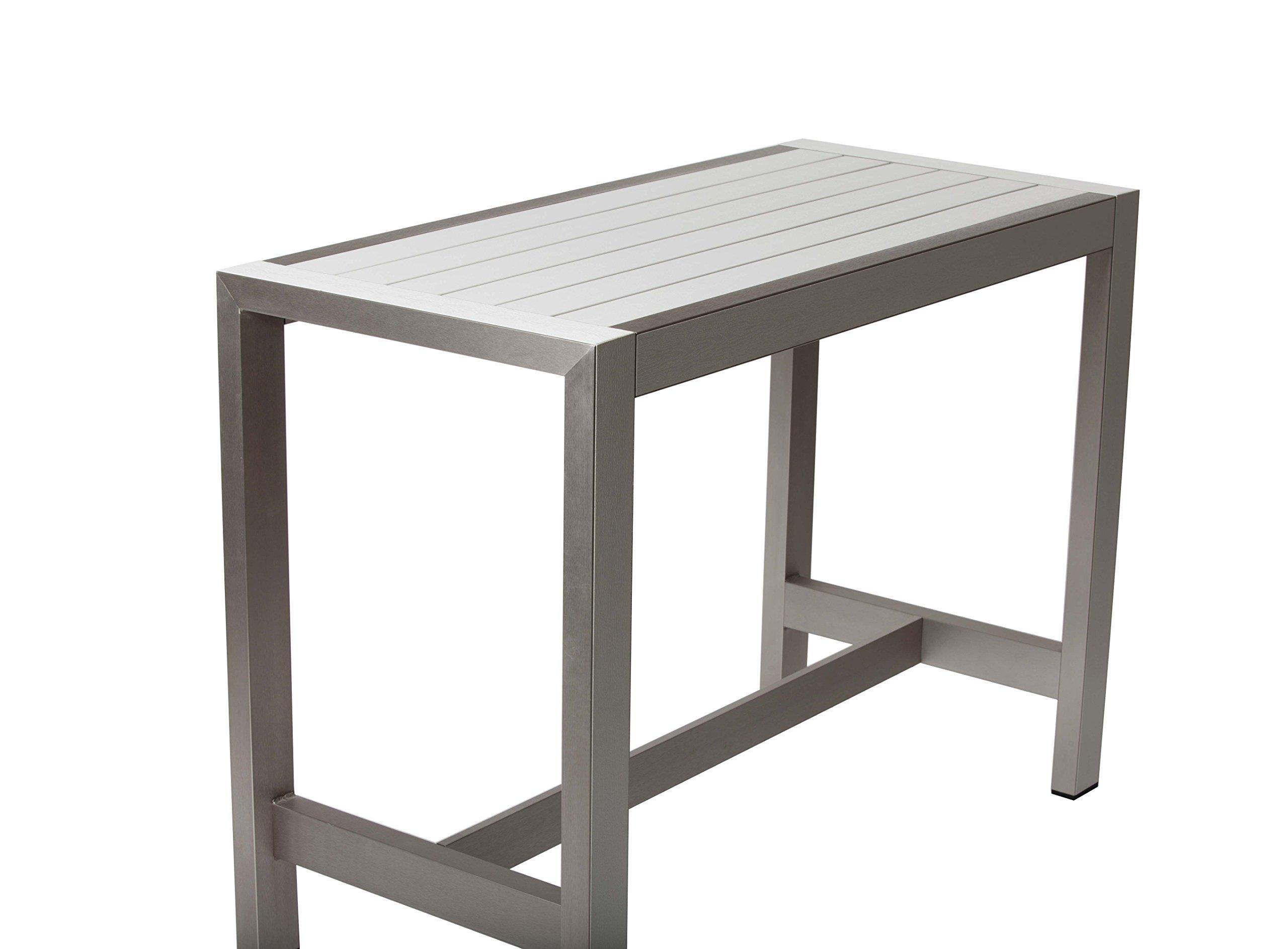 Pangea Home 28'' Betty Bar Table, White