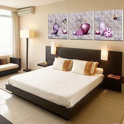 Dipinti moderni semplice quadro la camera da letto pareti trittico ...