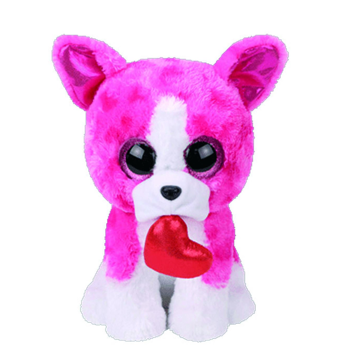 Claire\'s Girl\'s TY Beanie Boo Small Romeo the Pink Bulldog Soft Toy ...