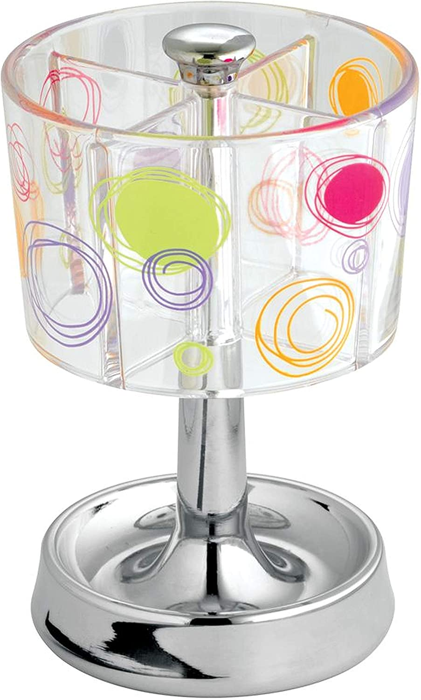 Bathroom Vanities Clear//Chrome iDesign Doodle Soap Dispenser Pump for Kitchen