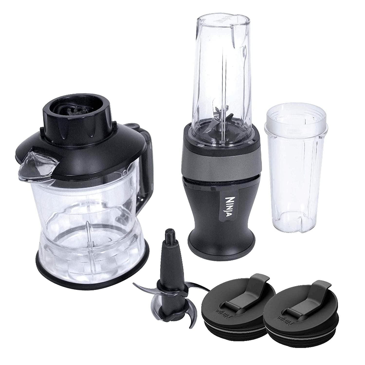 Nutri Ninja 2-in-1 700-Watt Blender/Processor | QB3005 (Renewed)