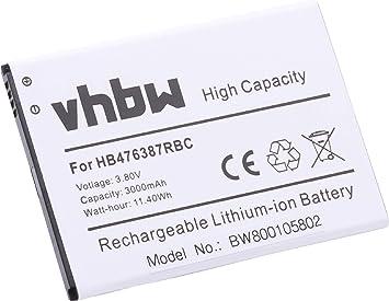 Batería vhbw 3000mAh (3.8V) para Handy Telefon Smartphone Huawei Ascend G750, Ascend G750-T00, B199, G750, Glory 4, Honor 3X sustituye HB476387RBC.: Amazon.es: Electrónica