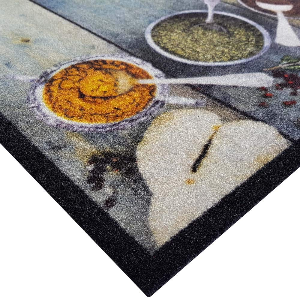 Teppich Boss K/üchenl/äufer Hot Kitchen grau//bunt rutschfest /& waschbar 50x150 cm