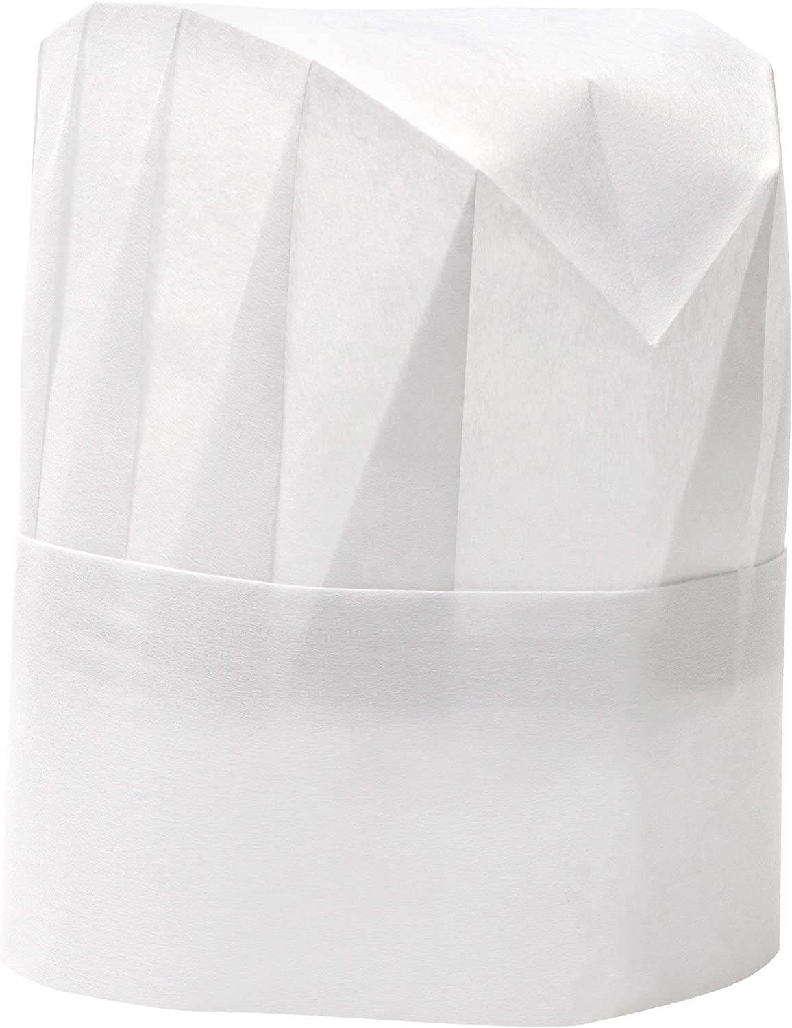 Juvale Kids Tall Paper Chef Hats (48 Pack) Adjustable Size White