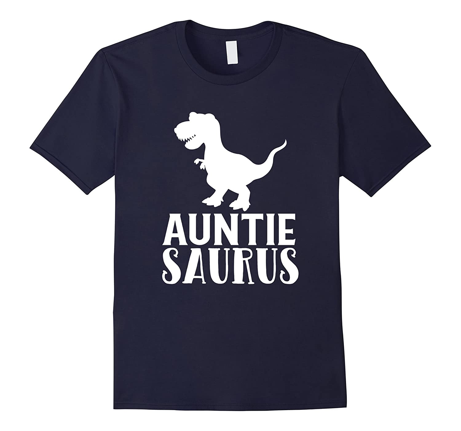 Auntie Saurus T-Shirt Matching Dinosaur Family Gift for Aunt-RT
