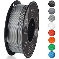 Filament PLA 1.75mm, Eryone PLA Filament 1.75mm, Imprimante 3D Filament PLA Pour Imprimante 3D, 1kg 1 Spool,Gris