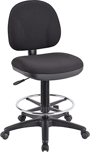 Lorell Adjustable Multi-Task Stool, 24 by 24 by 40-1 2 by 50-1 2-Inch, Black