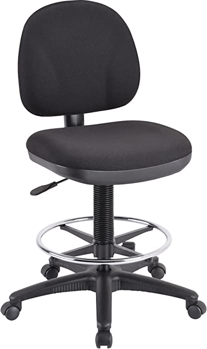 Lorell Adjustable Multi-Task Stool, 24 by 24 by 40-1/2 by 50-1/2-Inch, Black