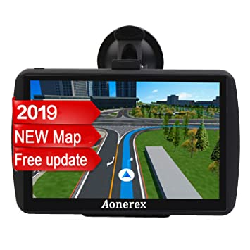 SAT NAV GPS Navigation System AONEREX-7-inch HD Touch Screen,Voice Car  Navigation System, Built-In 8GB&256MB,UK&EU Latest Maps Lifetime Free  Updates
