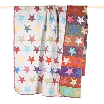 Pad Decke Kuscheldecke Wendedecke Stars Sterne Multi 150 X 200 Cm