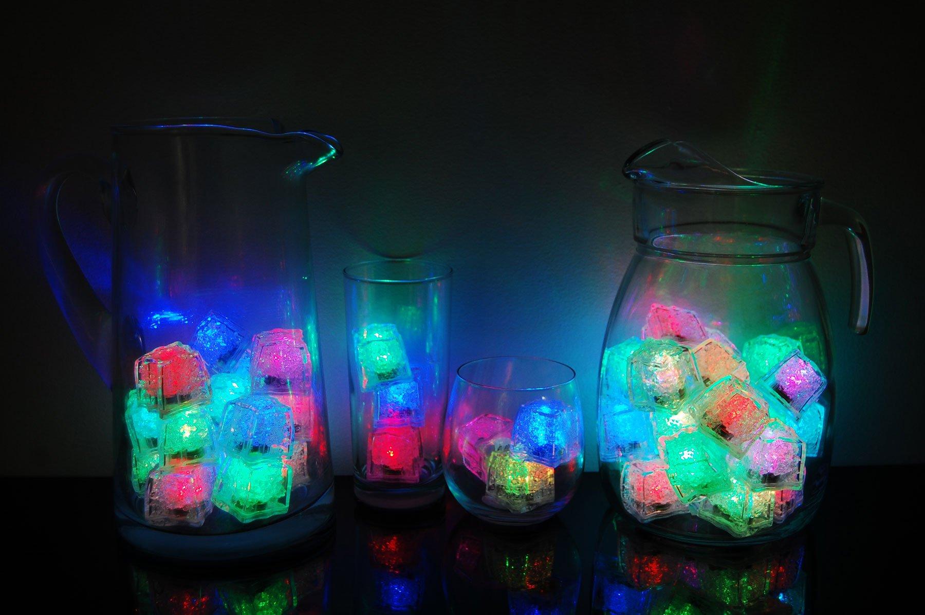LiteCubes Set of 48 Brand 8 Mode MultiColor RAINBOW Light up LED Ice Cubes … by LiteCubes (Image #2)