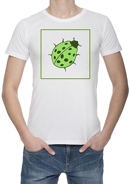 Escarabajo Verde Ecológico Camiseta Para Hombre Blanca Todos Los Tamaños | Mens White T-Shirt
