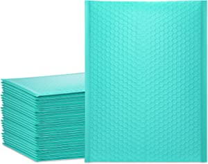 UCGOU 10.5x16 Inch Teal Bubble Mailer Self Seal Poly Padded Envelopes Waterproof and Tear-Proof Mailing Shipping Bags Pack of 25