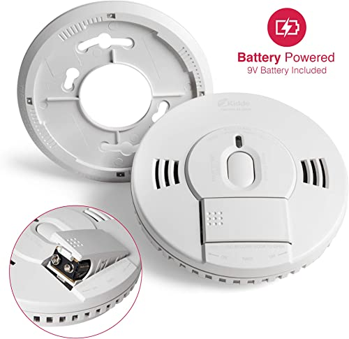 Kidde 21028501 DC Smoke Alarm Detector with TruSense Technology Front Load Battery Voice Notification Model 2070-VDSR, White