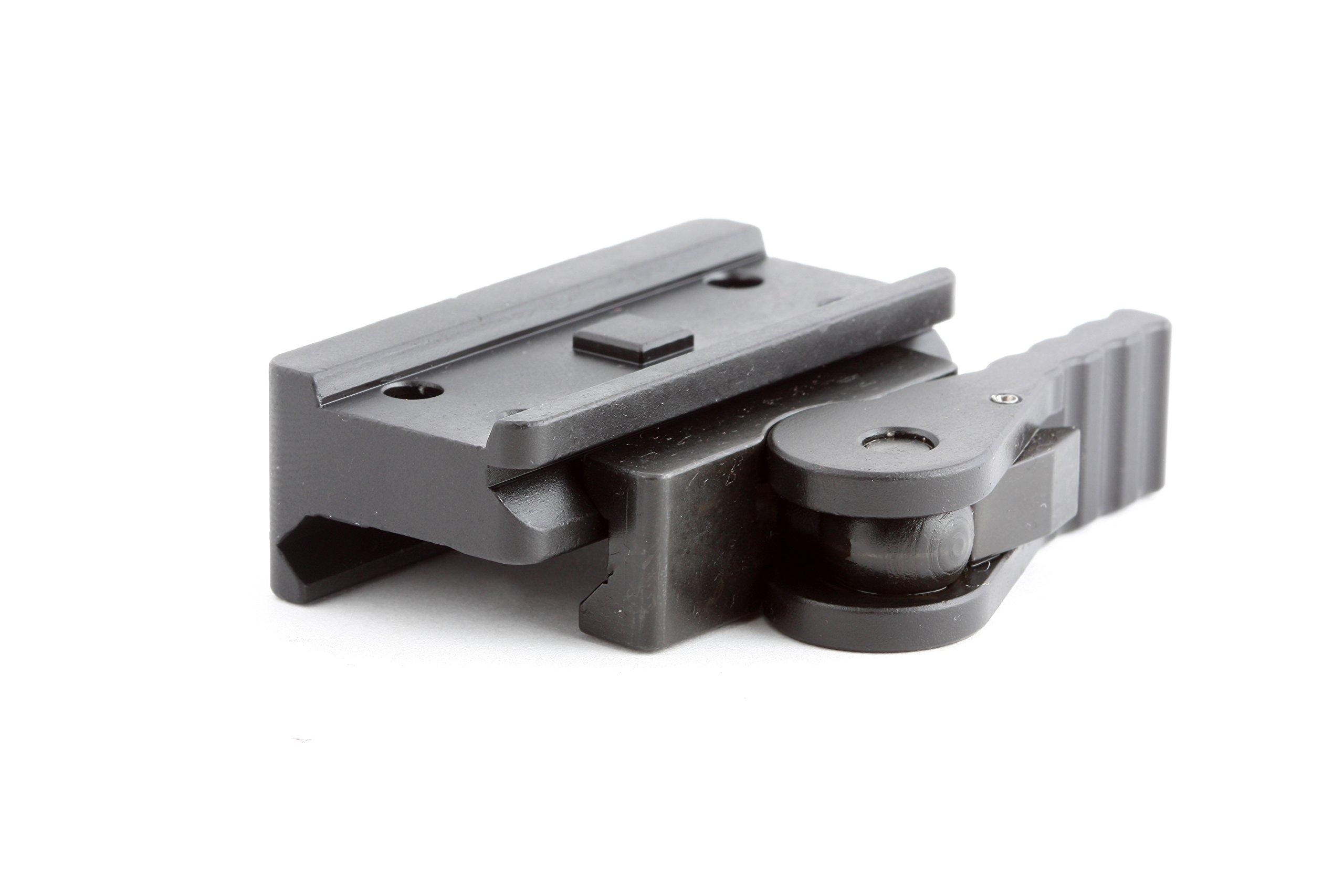 American Defense AD-T1-L STD Riflescope Optic Mount, Black by American Defense Mfg.