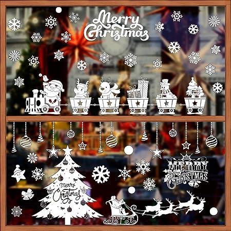 Adesivi Decorativi Natalizi Adesivi Finestra a Fiocco di Neve Natale Inverno Finestra Natale Vetrofanie Fiocchi Di Neve Finestra Decori Adesivi per Natale Partito Casa Bambini Decor Natale Addobbi