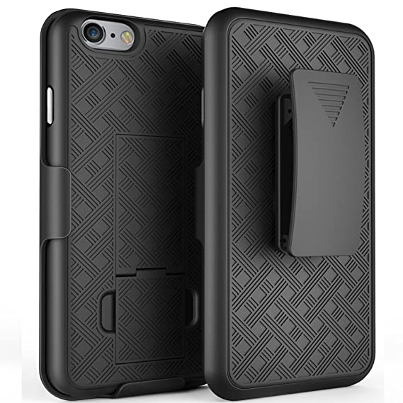iPhone 6s Case, De-bin iPhone 6s Case with Belt Clip Super Slim Hard Armor Cover Holster Case, iPhone 6s 6 s Cases with Kickstand and Belt Clip Case ...