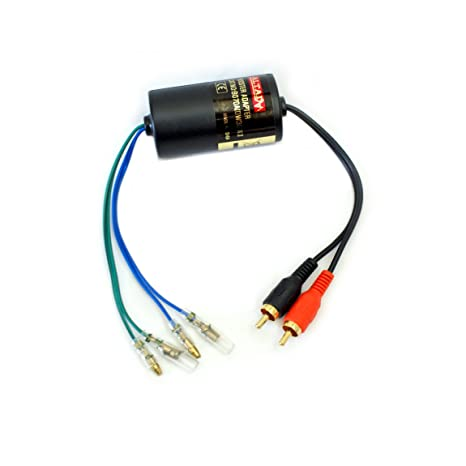 Amazon com: Speaker Output to RCA Converter - High to Low