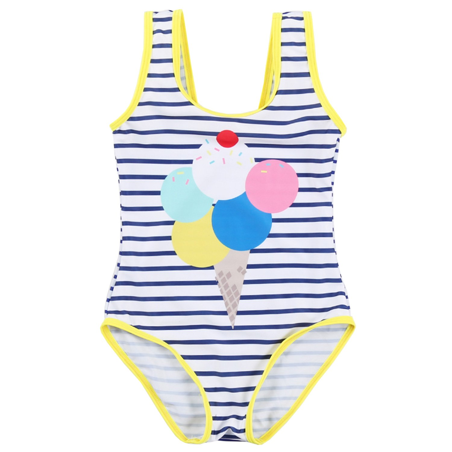 TERODACO Little Girls One Piece Swimsuit Bathing Suit Ruffle Beach Swimwear