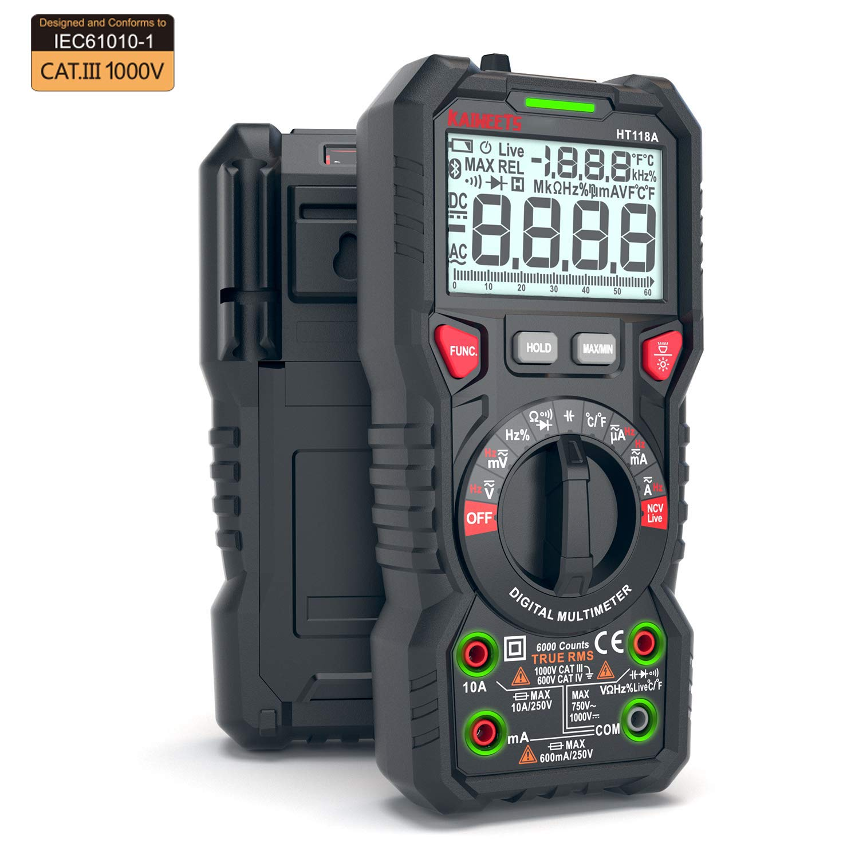 KAIWEETS TRMS Digital Multimeter Volt Meter Auto-Ranging Multi Voltage Tester Capacitance Meter Intelligent Anti-burning NCV Electrical Tester, Ohm Meter