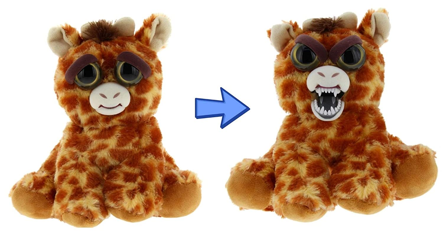 Feisty Giraffe by Feisty Pets Expressions William Mark – Ginormous Gracie A Cute Plush Stuffed Pet Animal That Turns Feisty With a Squeeze Perfect Toys for Friendly Mischief