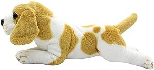 TAGLN Stuffed Animals Dog Toys King Charles Groveling Beagle Dalmatian Rottweiler Plush Pillows 19 Inch (King Charles)