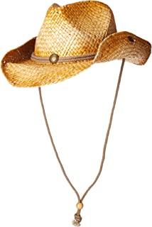 5e4db8929d0 Peter Grimm Mens Straw Round up Cowboy Hat