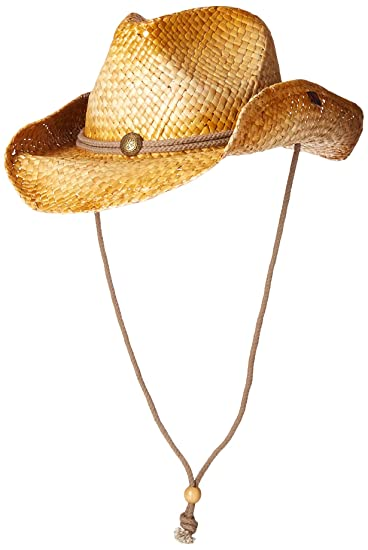 Peter Grimm Mens Straw Round Up Cowboy Hat 3924bd44029f