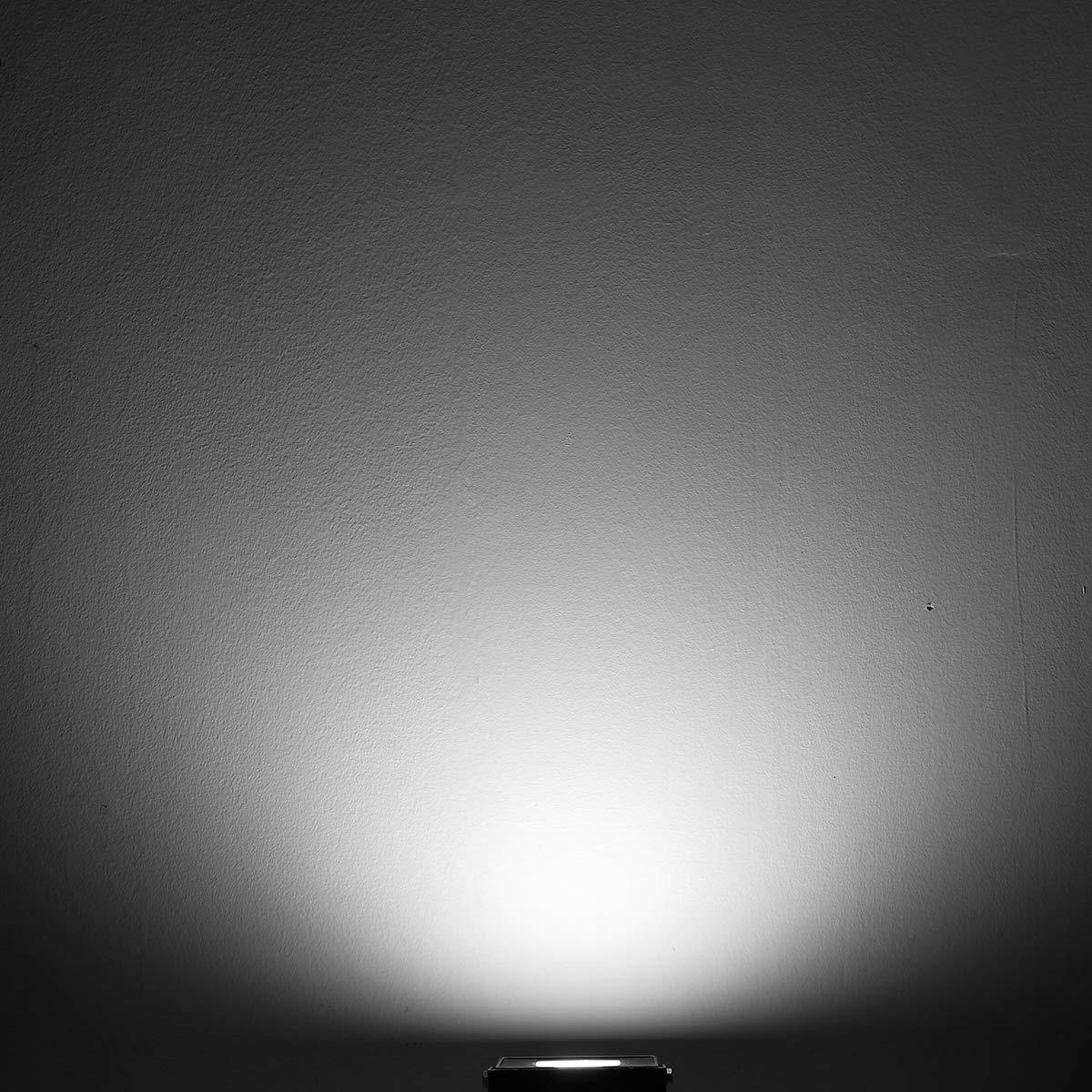 LE Projecteur LED Ultra Mince 15W 1500LM Blanc Froid 5000K Spot LED Extérieur IP65 Etanche Verre Trempé à Grain Fin, Lampe LED Extérieur pour Jardin, Cour, Garage, Entrée