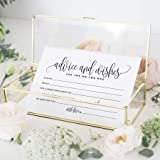 Bliss Collections Mad Libs Advice and Wishes Cards for The New Mr and Mrs, Bride and Groom, Newlyweds, Perfect Addition…