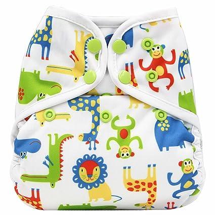 Nuevo bebé recién nacido bebé pañales de tela para, reutilizable, lavable, ajustable (