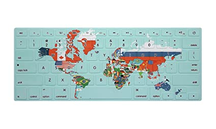 Hrh Flags Of All Countries In The World Map Rubber Keyboard Cover