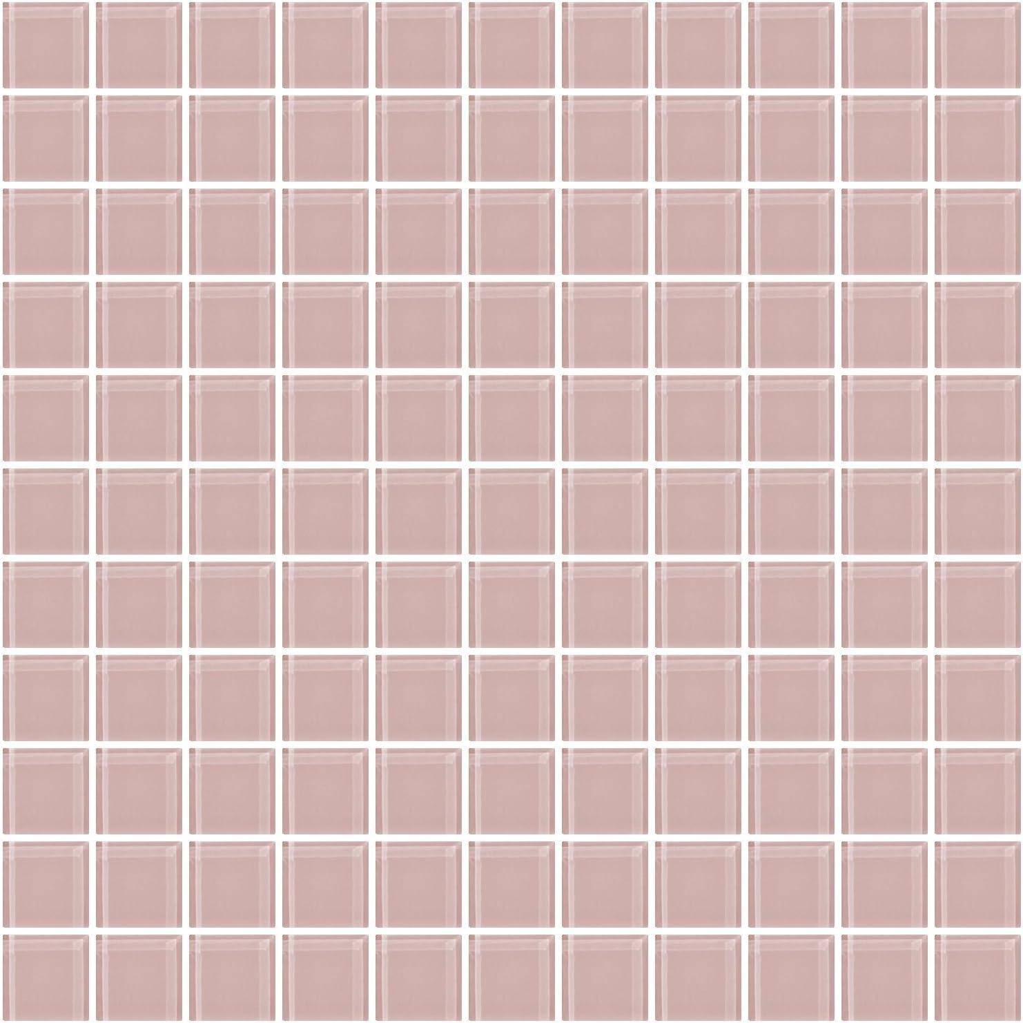 Susan Jablon Mosaics 1 Inch Watermelon Pink Glass Tile