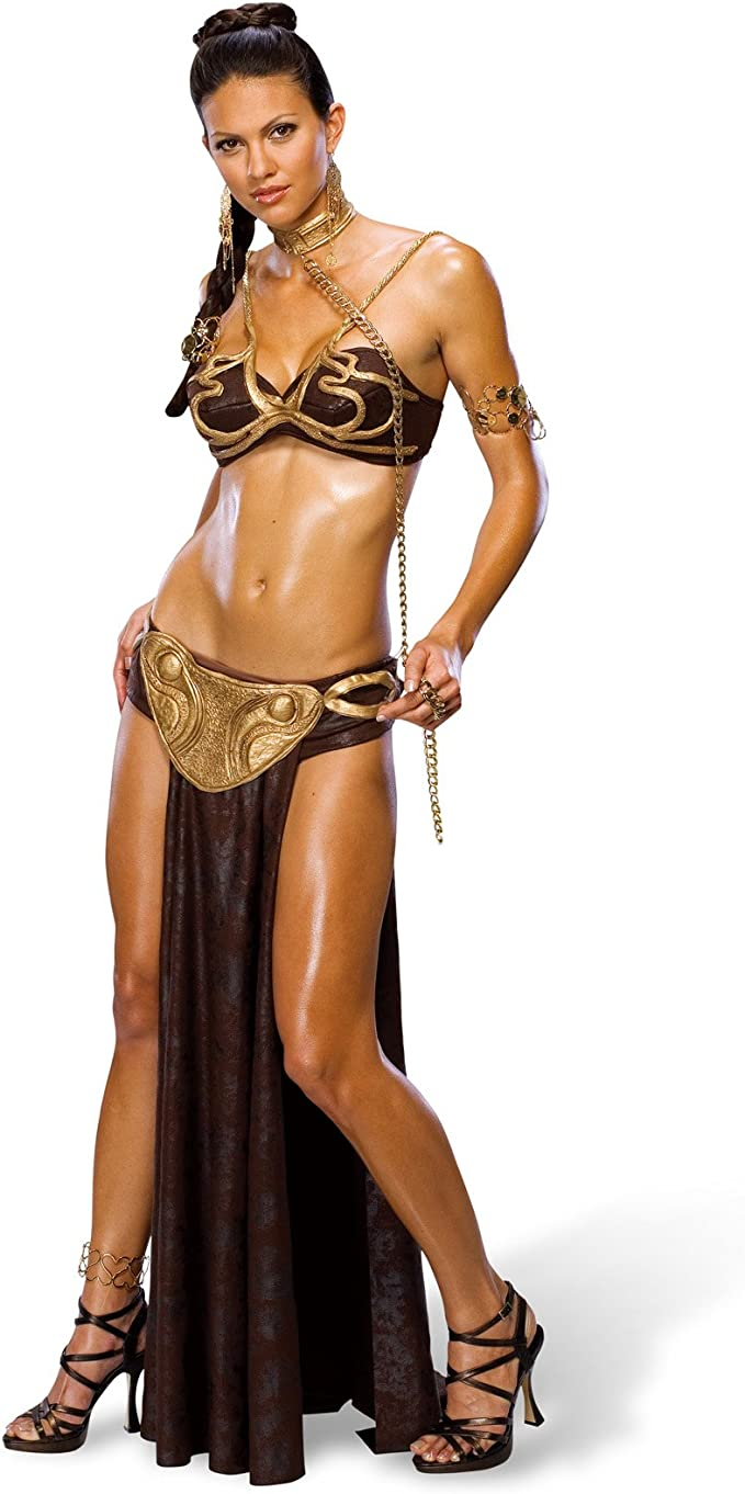 Star Wars - disfraz de la princesa Leia esclava - traje sexy de ...
