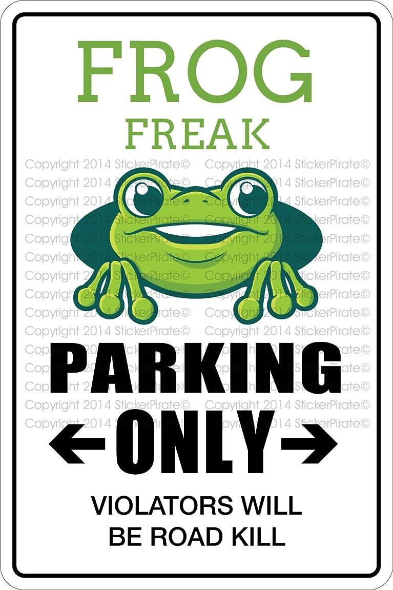 Frog Freak Parking Sign