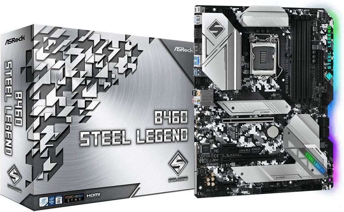 ASROCK B460 Steel Legend Motherboard With 802.11ax WiFi