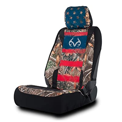 Realtree Camo Seat Cover | Low Back | Edge/Americana, Single : Clothing