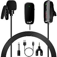 Micrófono Inalambrico Solapa, Micrófono Bluetooth 30m de Transmisión, Micrófono Solapa Inalambrico 50 UHF Canal…