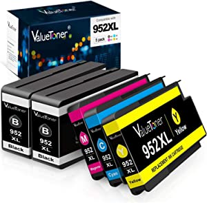 Valuetoner Remanufactured Ink Cartridges Replacement for HP 952 XL 952XL High Yield for OfficeJet Pro 8710 8720 7740 8740 7720 8715 8702 (5-Pack)