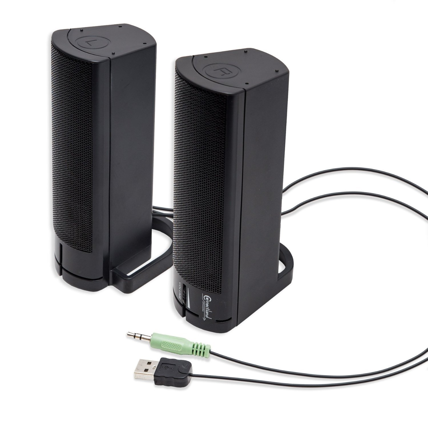 how to connect stereo speakers to computer