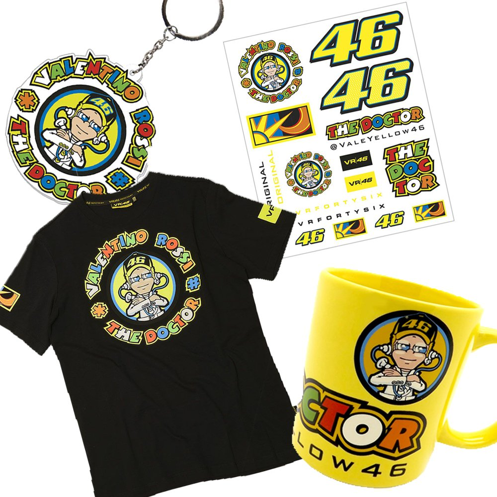 Oficial Valentino Rossi VR46 Xmas llavero pegatinas tazón ...