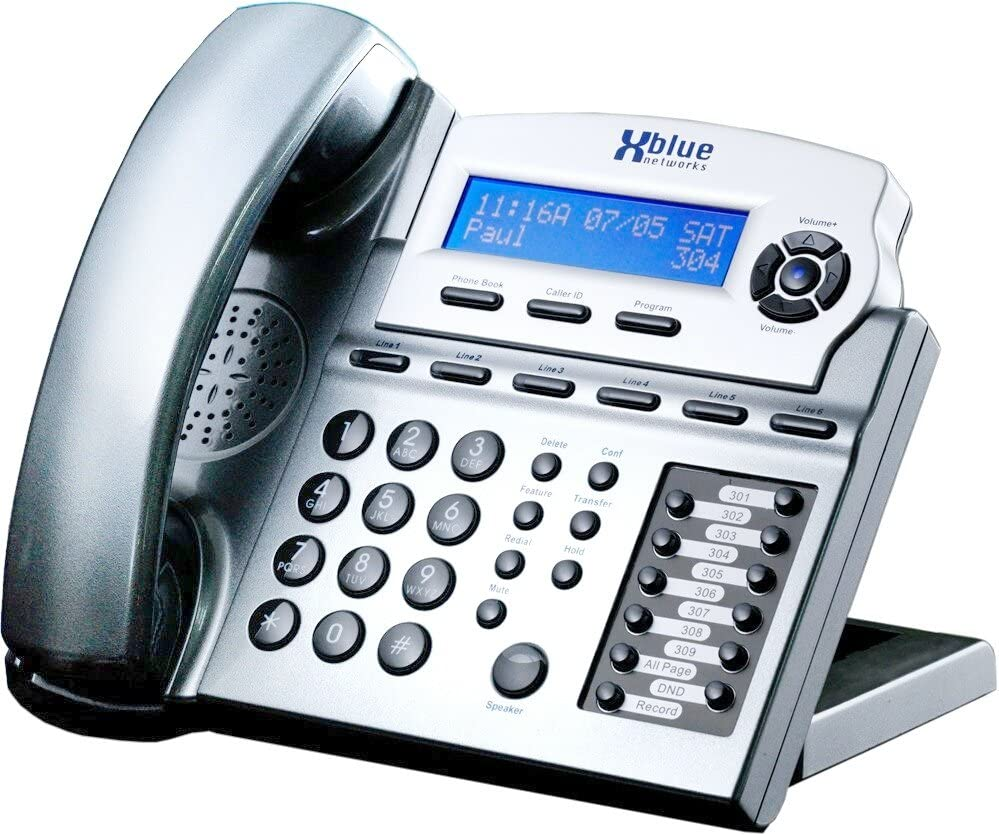 XBlue X16 Small Office Phone System 6 Line Digital Speakerphone - Titanium Metallic (XB1670-86)
