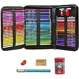 色鉛筆 72色 油性書き芯 カラーペン 描き用 専用バッグ梱包 塗り絵ペンセット 対応色名印刷あり