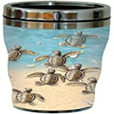 Tree-Free Greetings 77088 Baby Turtles Collectible Art Sip 'N Go Travel Tumbler, 16-Ounce, Stainless Steel, Multicolored