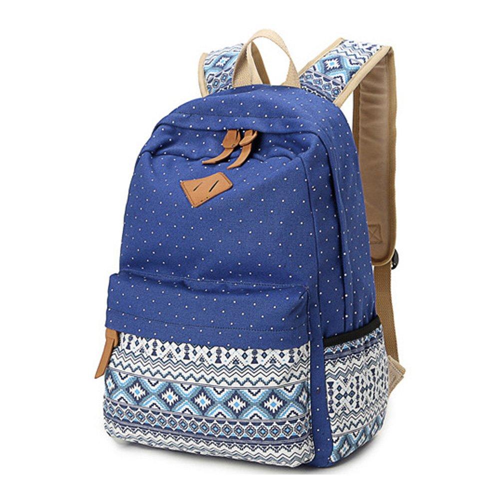 e531da98cb7a Abshoo Canvas Dot Backpack Cute Lightweight Teen Girls Backpacks School  Shoulder Bags (Black)