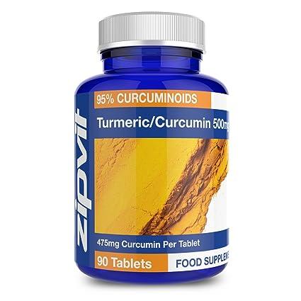 Cúrcuma Curcumina | 90 comprimidos | La potencia más alta, 475mg de curcumina por comprimido